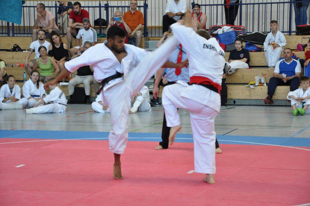 Europameisterschaft Enshin Karate Leon Muthunayake Axe Kick